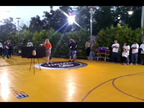 Half Court shot attempt for $10,000 at CBS Studio Center