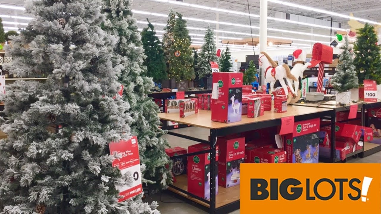 Big Lots Christmas Clearance Decorations Home Decor Shop With Me Shopping Store Walk Through 4k Youtube