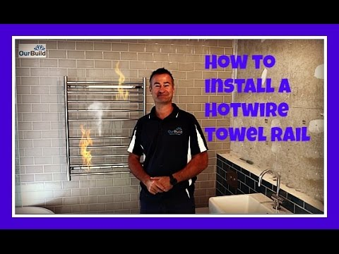 how to install a hot wire heated towel rail youtube rh youtube com Amazon Towel Warmer Wall Mounted Towel Warmer