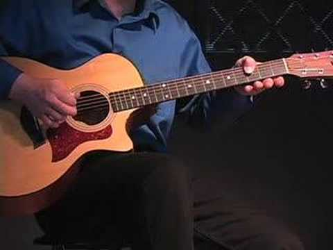 Jeff Wahl - How to Play Linus and Lucy on guitar. (part 1)