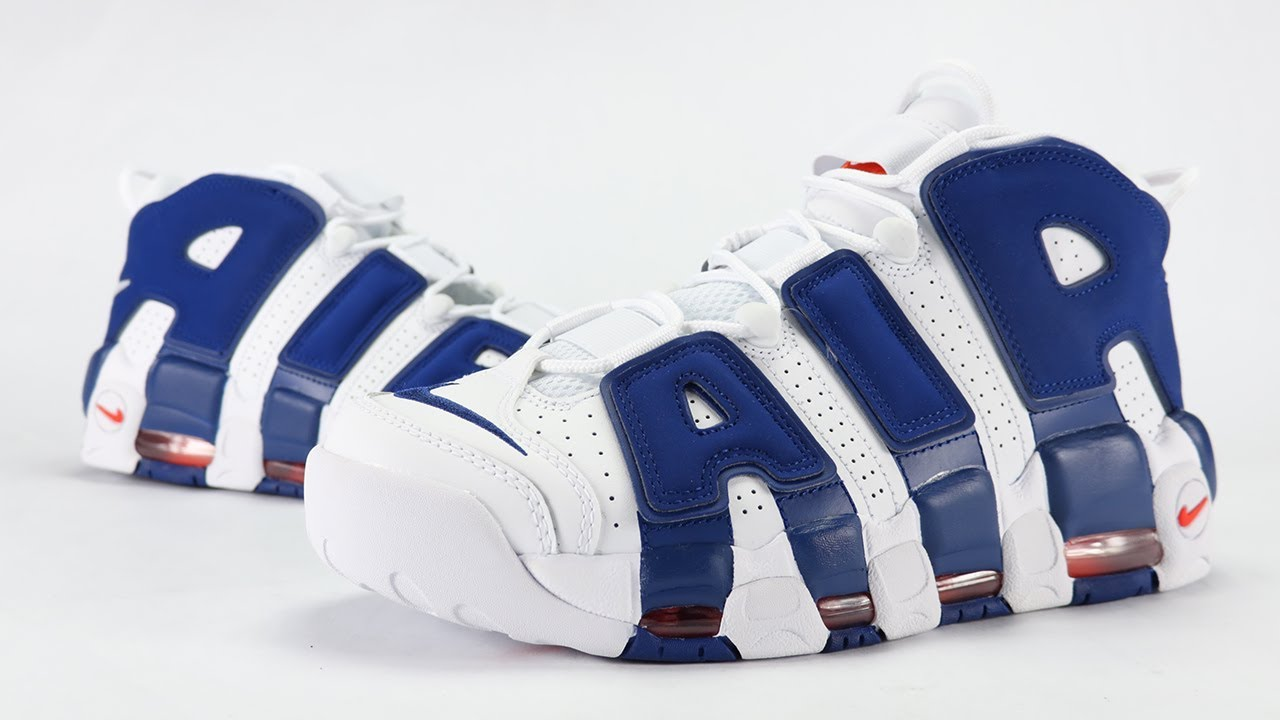 5872f4a762ee6 NIKE AIR MORE UPTEMPO KNICKS THE DUNK REVIEW + ON FEET - YouTube