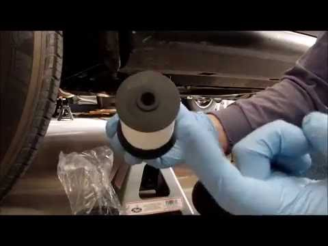Grand Cherokee Fuel Filter Replacement For Ecodiesel Engine Youtube