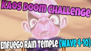 Kaos Doom Challenge: Enfuego Rain Temple (Wave 4-10) Skylanders Trap Team Walkthrough, Commentary