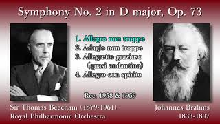 Brahms: Symphony No. 2, Beecham & RPO (1958) ブラームス 交響曲第2番 ビーチャム