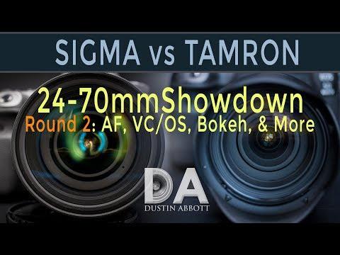 Tamron G2 vs Sigma ART: 24-70mm Shootout #2: AF, VC, Bokeh+ | 4K