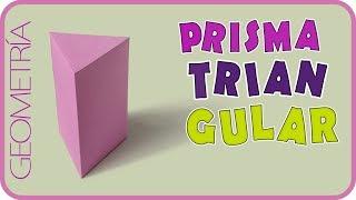 Como hacer un prisma triangular / Triangular prism