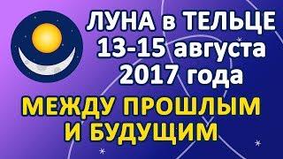 ЛУНА в знаке ТЕЛЕЦ с 13 по 15 августа 2017 года. Между Прошлым и Будущим