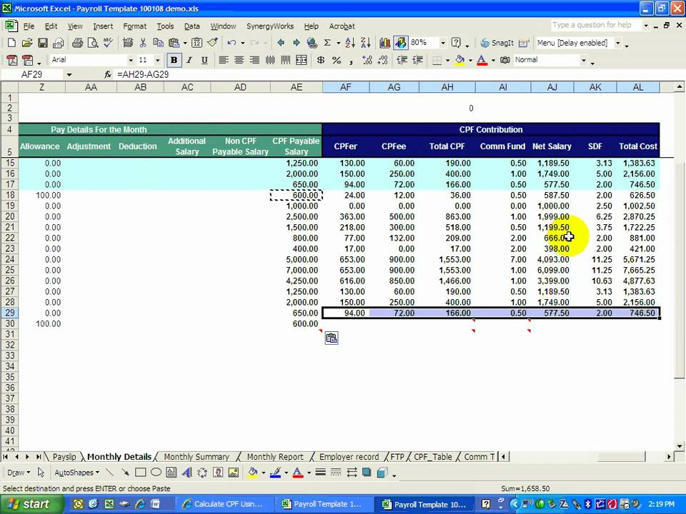 excelPAYS A payroll system created using MS Excel YouTube – Microsoft Excel Payroll Template