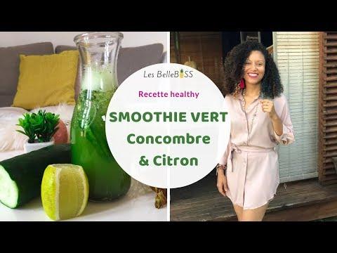 🍹-green-smoothie-au-concombre-et-au-citron