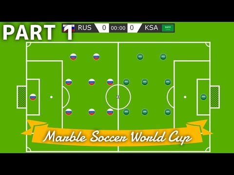 Marble Soccer World Cup Russia 2018 - Part 1 (Groups) | Bouncy Marble