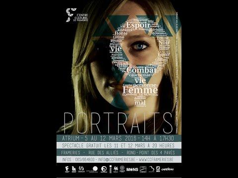 """Arte Corpo - Performance au sein de l'exposition """"Portraits de femmes"""" à Frameries"""