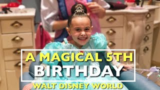 A Magical 5th Birthday! Princess Ariel Makeover, Dinner with Disney Princesses | Adventure SIXTEEN