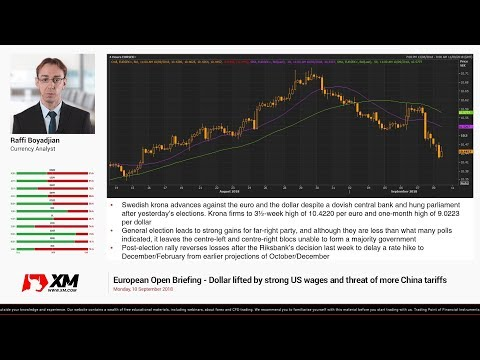 Forex News: 10/09/2018 - Dollar lifted by strong US wages and threat of more China tariffs