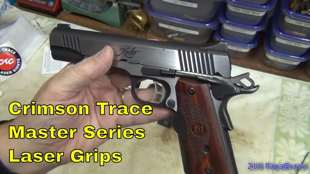 Crimson Trace Master Series Green Laser for the Kimber 1911