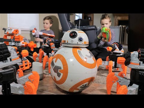 [Nerf Battle]  BB8 Saves the Day (Twin Toys)