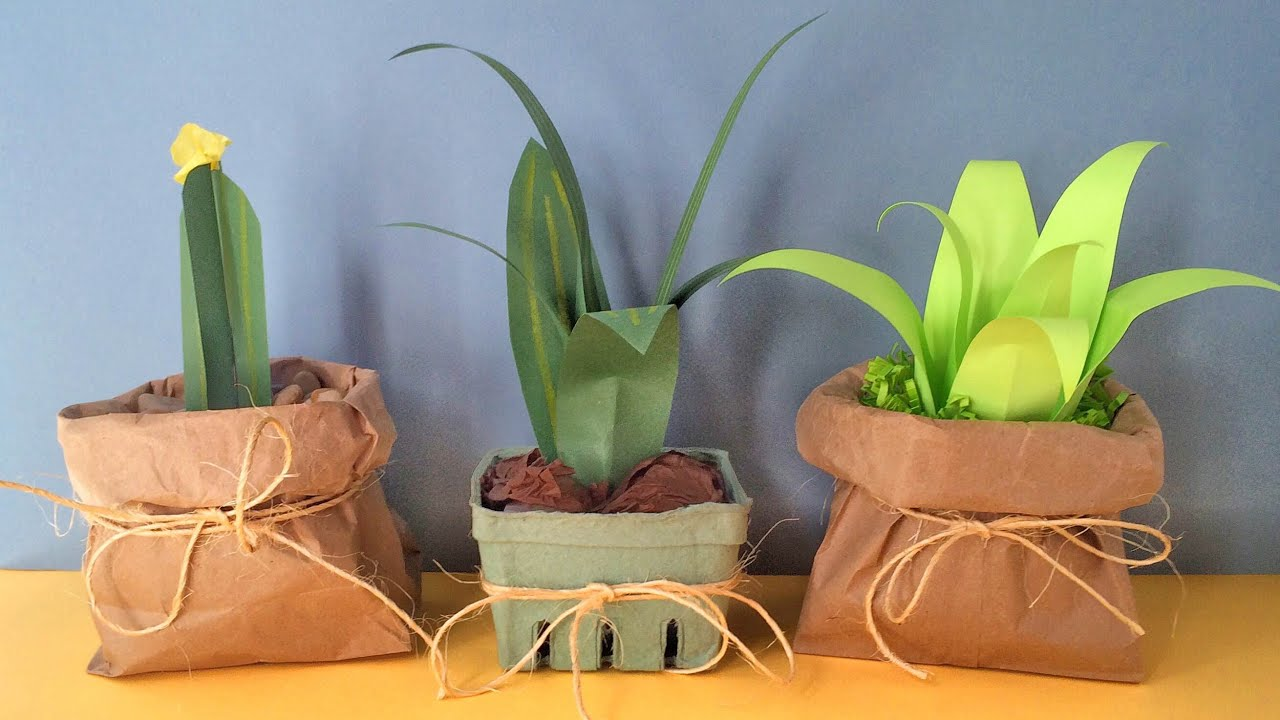 How To Make Paper Plants Easy Youtube