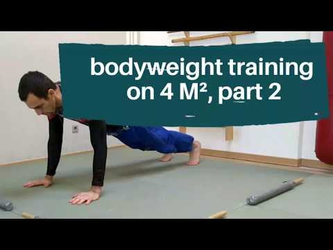 Bodyweight training on 4 squared meters part 2