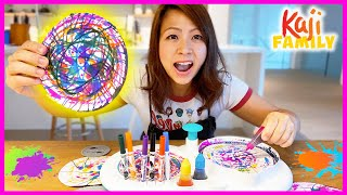 Mommy tries Crayola Spin and Spiral Art Station for kids!
