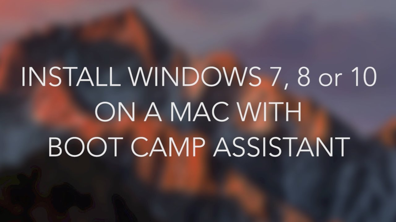 create a windows 7 install disk option on boot camp assistant