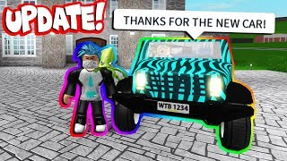 BUYING MY ROBLOX EX THE NEW JEEP IN BLOXBURG! *UPDATE* (Roblox)