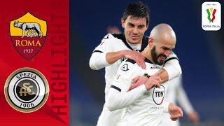 Roma 2 4 Spezia Saponara Seals Victory In Extra Time Coppa Italia 2020 21