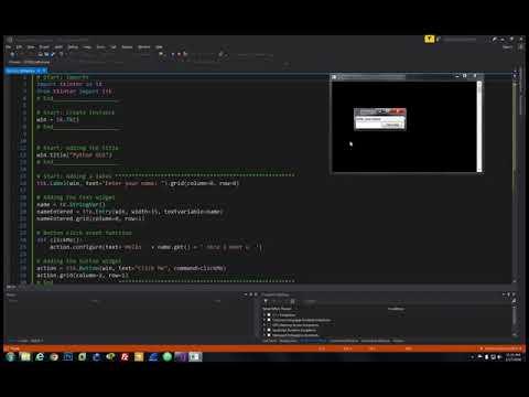 Python GUI: 5  Adding A Text Widget