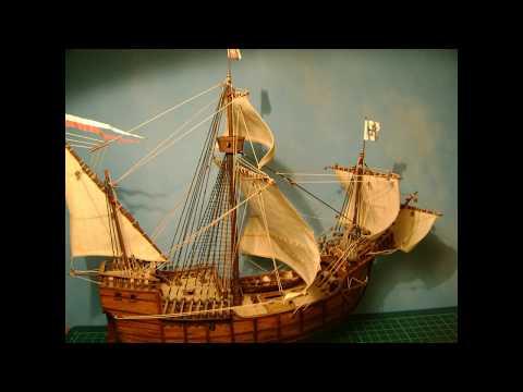 Santa Maria 1492 Paper Model Ship