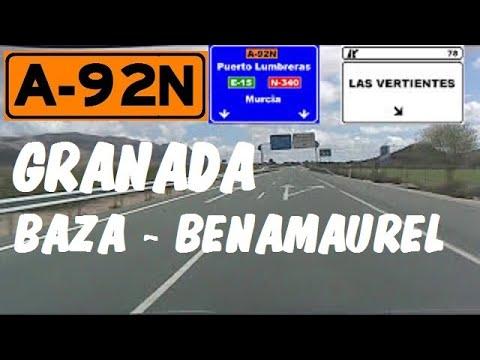 A-92N Granada , Ramal Norte A-92 , tramo Baza - Benamaurel / Granada Province - Highways in Spain