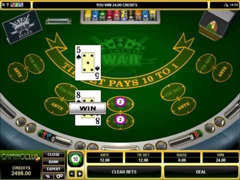 Casino War Gameplay At Gaming Club Casino