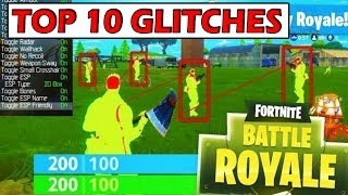 TOP 10 CRAZY GLITCHES in FORTNITE BATTLE ROYALE *GAME BREAKING*