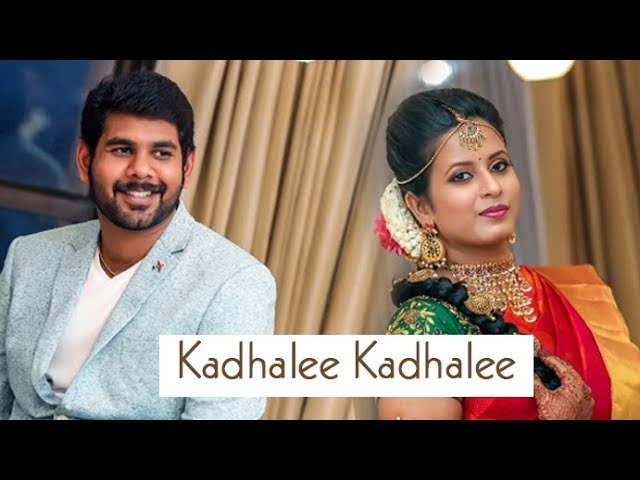 Arjunraj Varshini Engagement Montage - Kadhalae Kadhalae song cover version!
