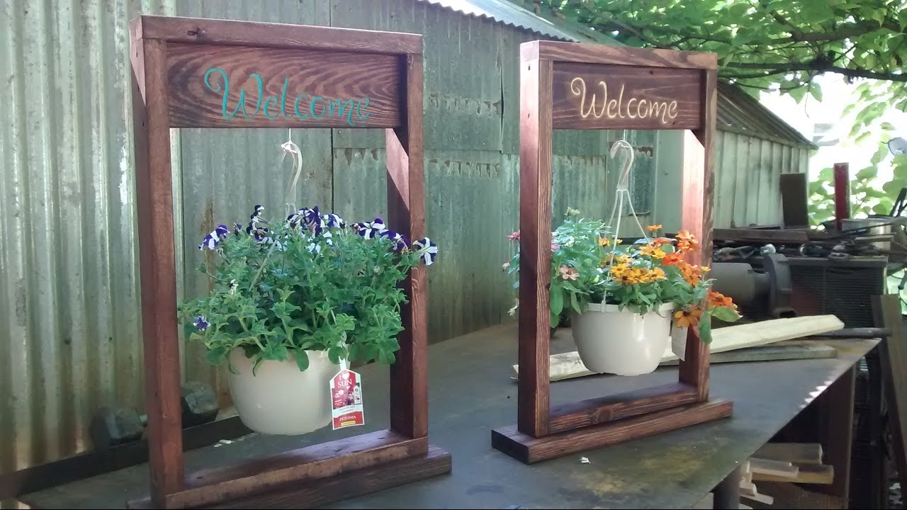 Engraved flower pot hangers & Engraved flower pot hangers - YouTube