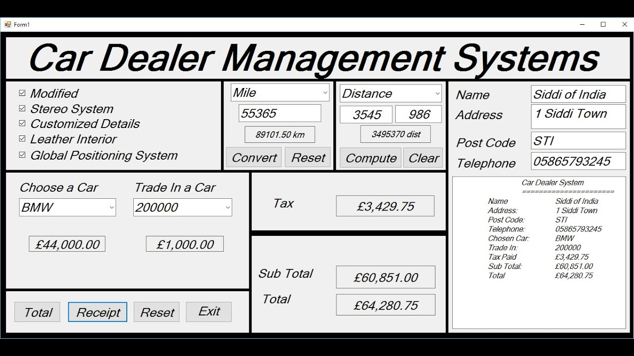 How to Create Car Dealer Management Systems in Visual