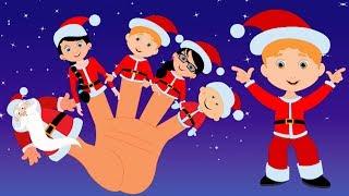 Papai Noel dedo familia | natal canções para crianças | papai noel song | Santa Claus Finger Family