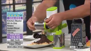 Kitchen Master All-in-One Rotary Grater and Slicer | HSN