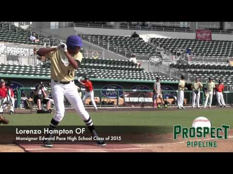 Lorenzo Hampton Prospect Video, OF, Monsignor Edward Pace High School Class of 2015