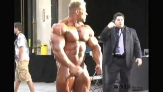 Jay Cutler and Girl   Mr  Olympia Backstage