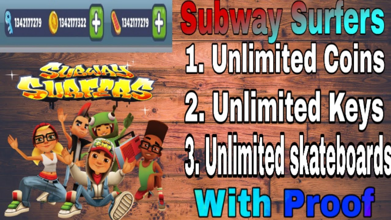 unlimited subway surfers coins and keys ios