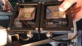 видео Светодиодные прожекторы 10w