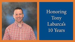 Honoring Tony Labarca - 10 Year Anniversary - Elim Bible Institute Baccalaureate 2014