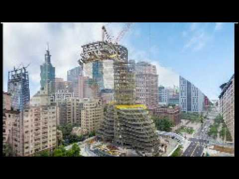 The Twisted Carbon Eating Tower Is Rising # Taipei # Taiwan's Capital City