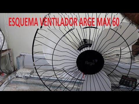 Esquema do Ventilador de Parede Arge Max 60