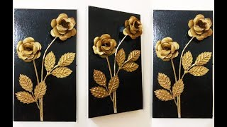 How to Make Paper Flower Wall Hanging || Paper Craft Easy|| Roses - 3D Box In Frame.