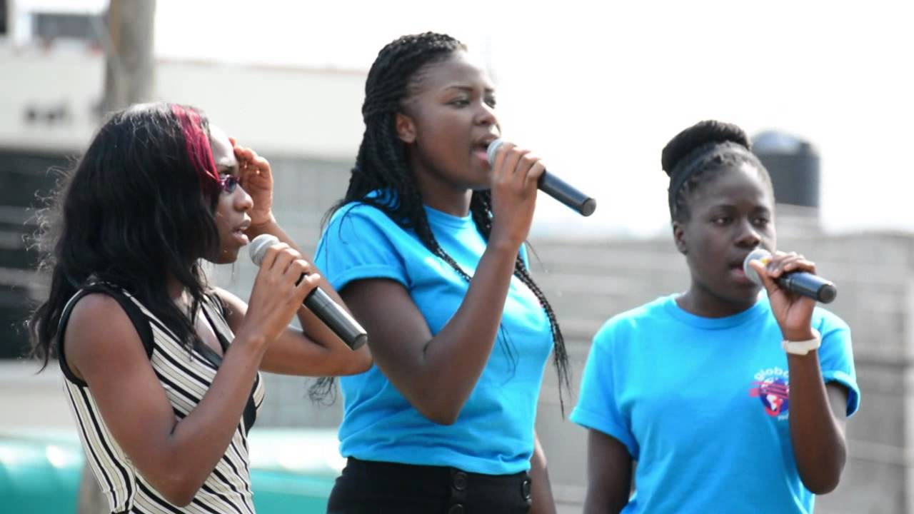 Adventist Youths sing Jerusalem  on Global Youth Day in Kingston Jamaica