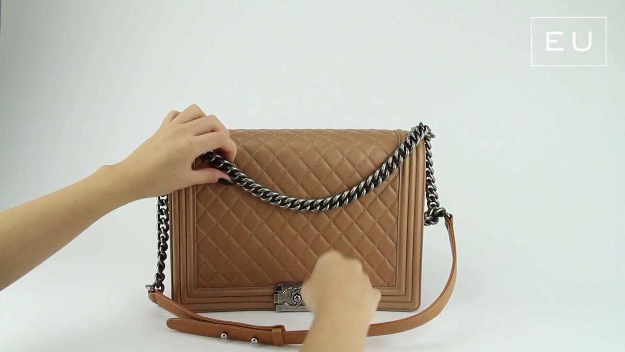 e4054fffd Bolsa Chanel Boy Maxi Caramelo   Etiqueta Única - YouTube