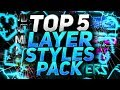 TOP 5 Layer Styles Pack [#2]+ DOWNLOAD 2017 PL
