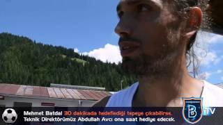 Mehmet Batdal ve Teknik Direktörümüz Abdullah Avcı'nın iddaası