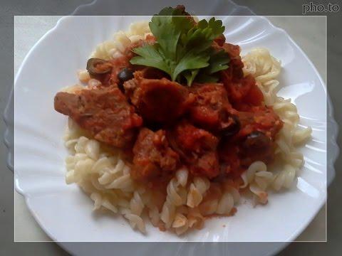 Мясо по-итальянски рецепт.Тушеное мясо.