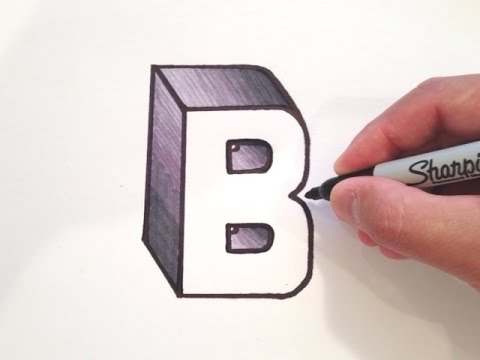 How To Draw The Letter B In 3d Youtube