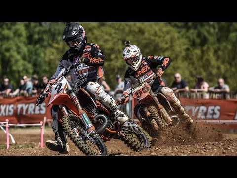 MOTOCROSS -EUROPE'S BEST 2 STROKE TEAM MATES BATTLE FOR WIN